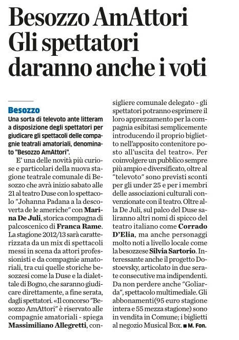 La Provincia di Varese, 9 Novembre 2012, pagina 29