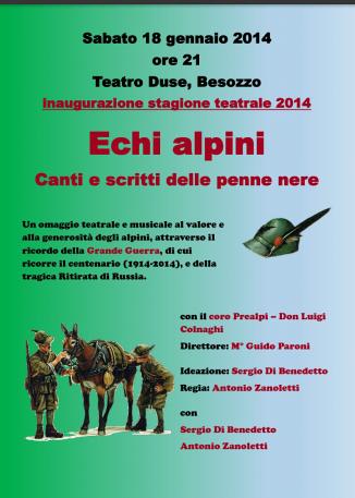 Questa sera (18 gennaio 2014) al Teatro Duse di Besozzo!